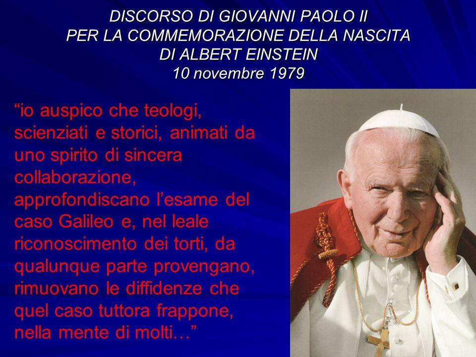 DISCORSO DI GIOVANNI PAOLO II PER LA COMMEMORAZIONE DELLA NASCITA DI ALBERT EINSTEIN 10 novembre 1979