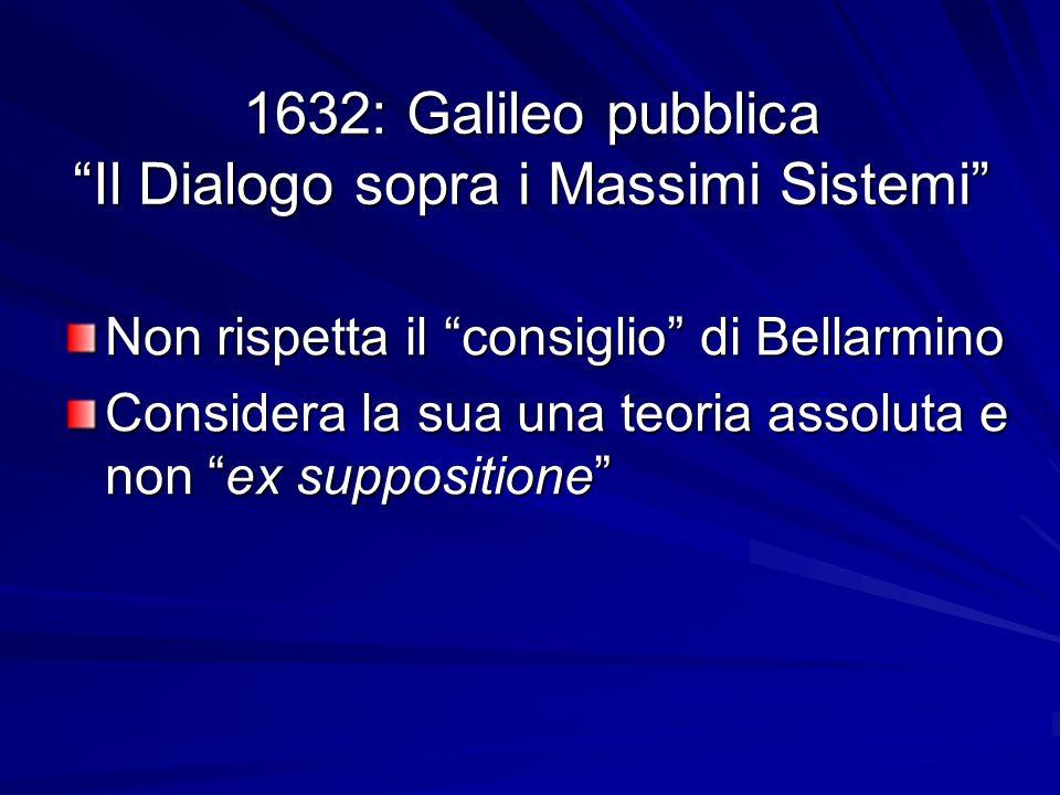 1632: Galileo pubblica Il Dialogo sopra i Massimi Sistemi
