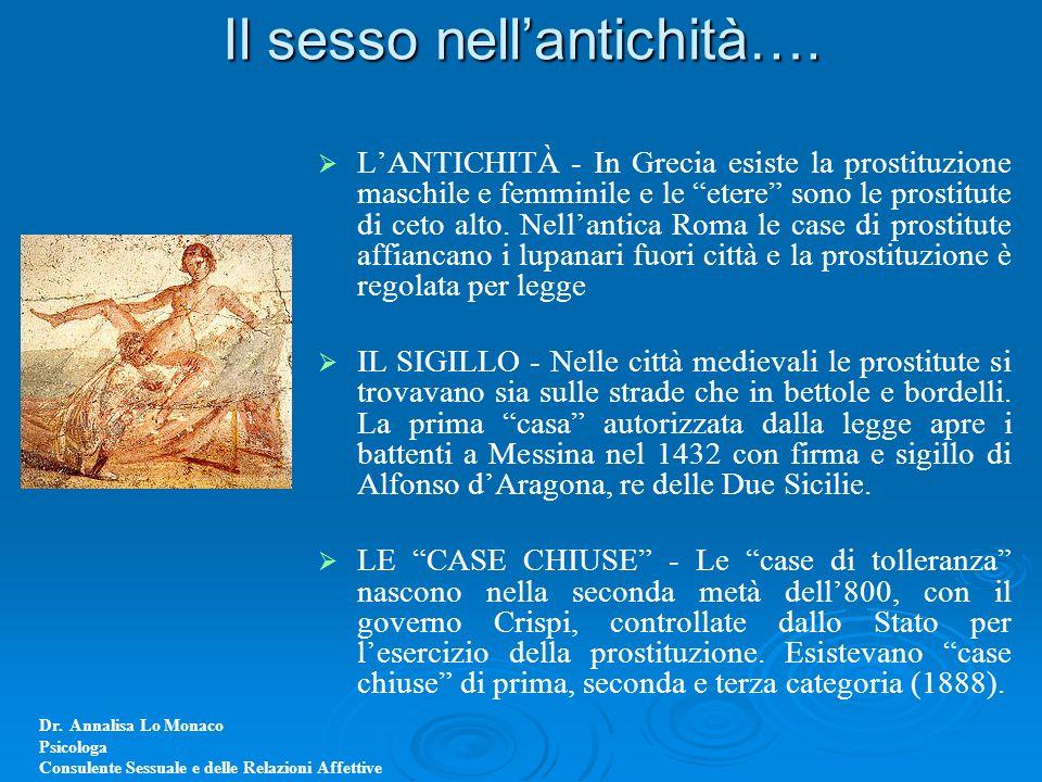 Il sesso nell'antichità….