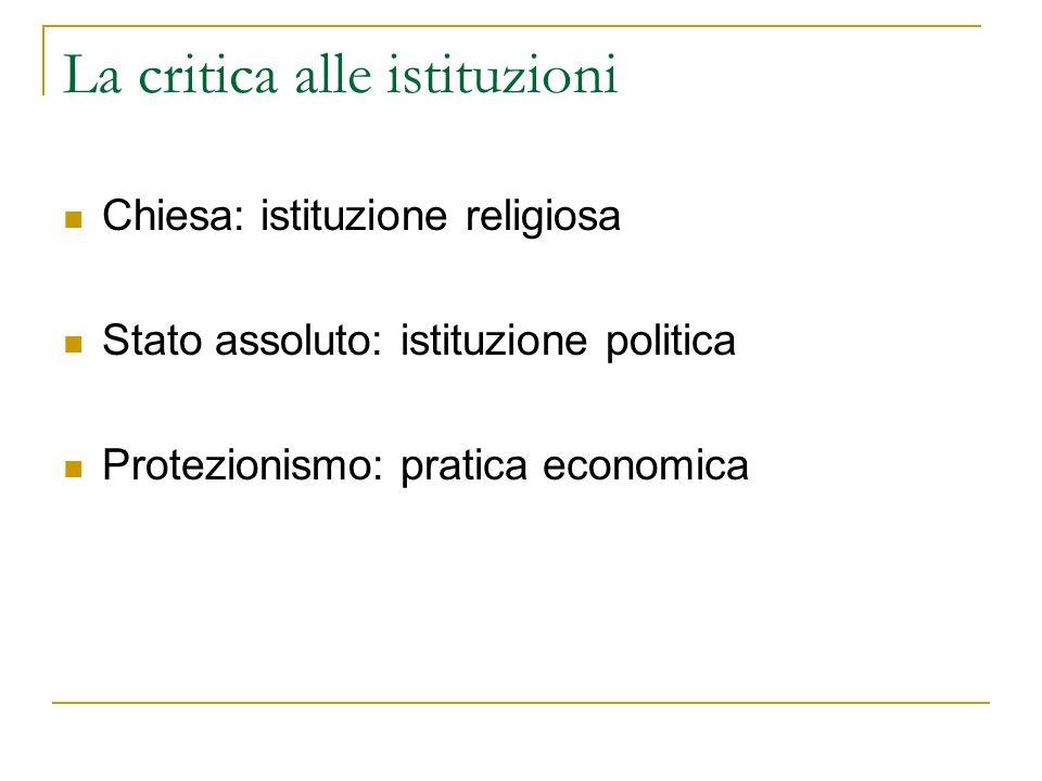 La critica alle istituzioni