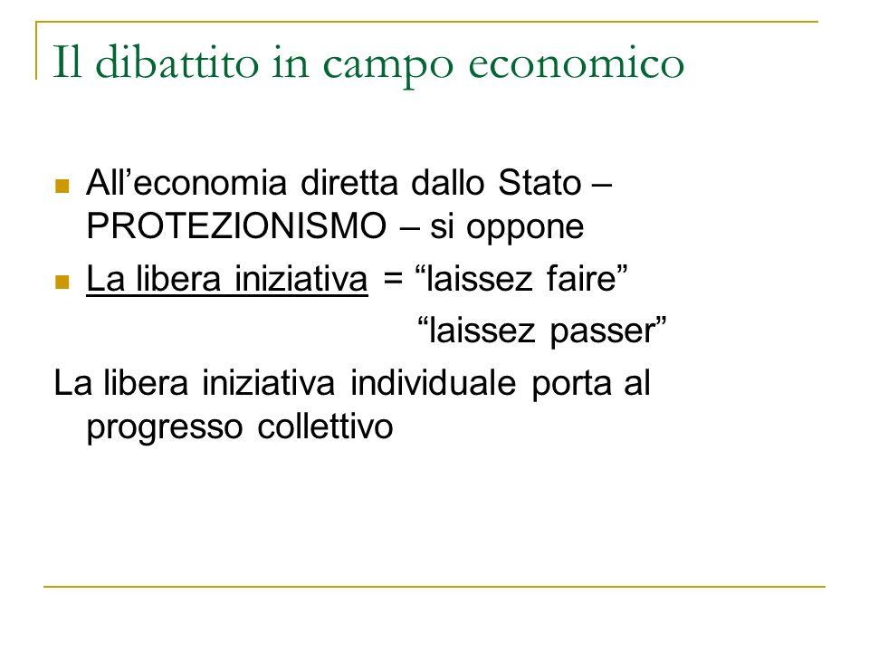 Il dibattito in campo economico