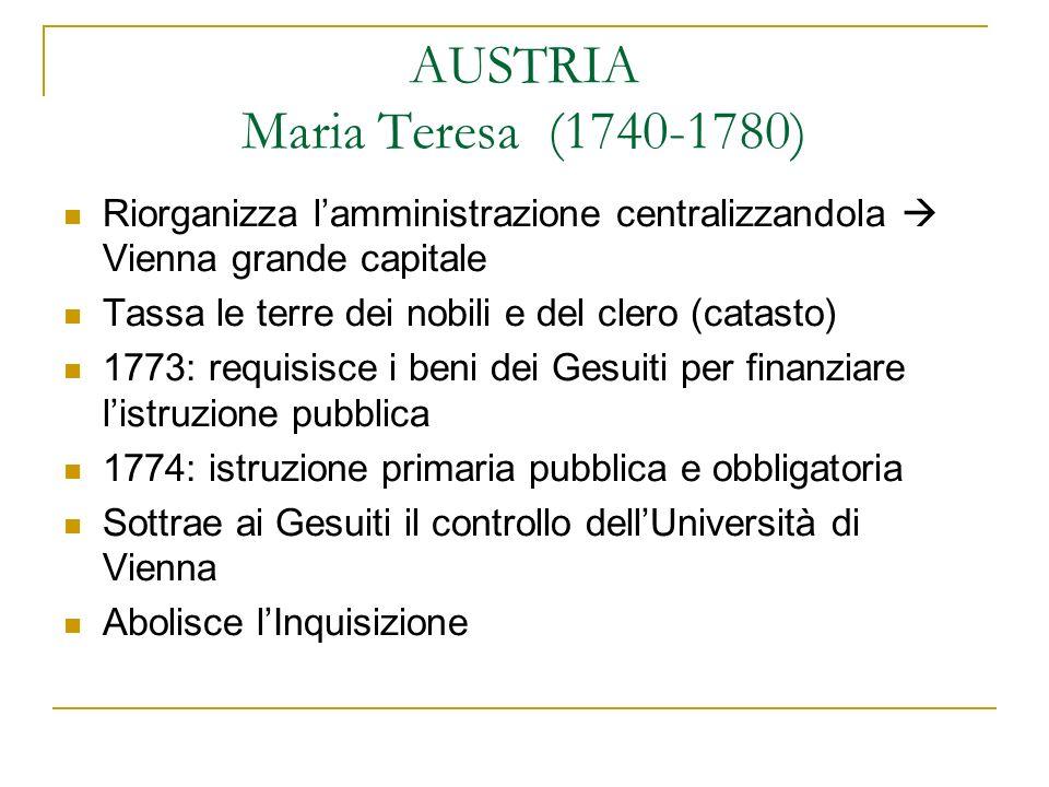 AUSTRIA Maria Teresa (1740-1780)