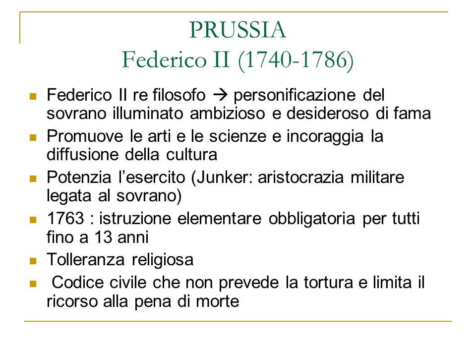 PRUSSIA Federico II (1740-1786)