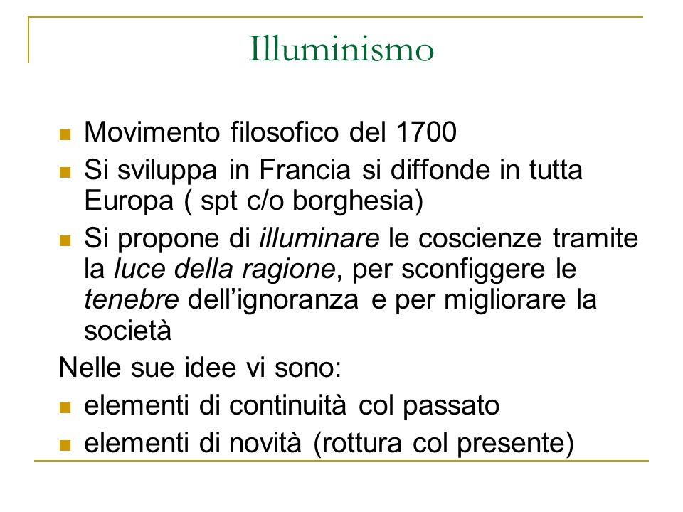 Illuminismo Movimento filosofico del 1700