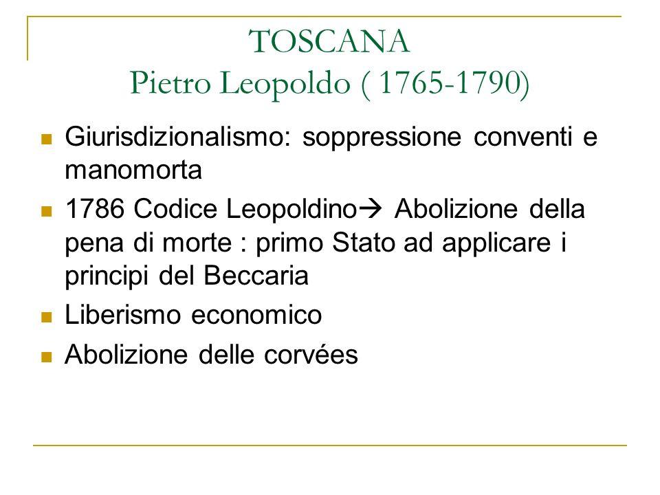 TOSCANA Pietro Leopoldo ( 1765-1790)