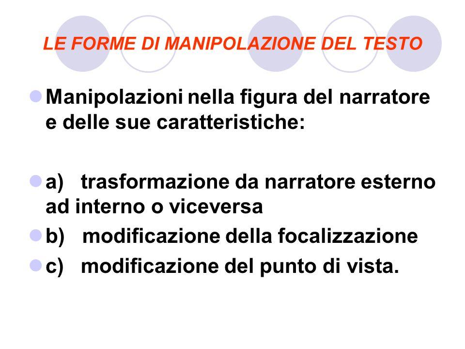 LE FORME DI MANIPOLAZIONE DEL TESTO