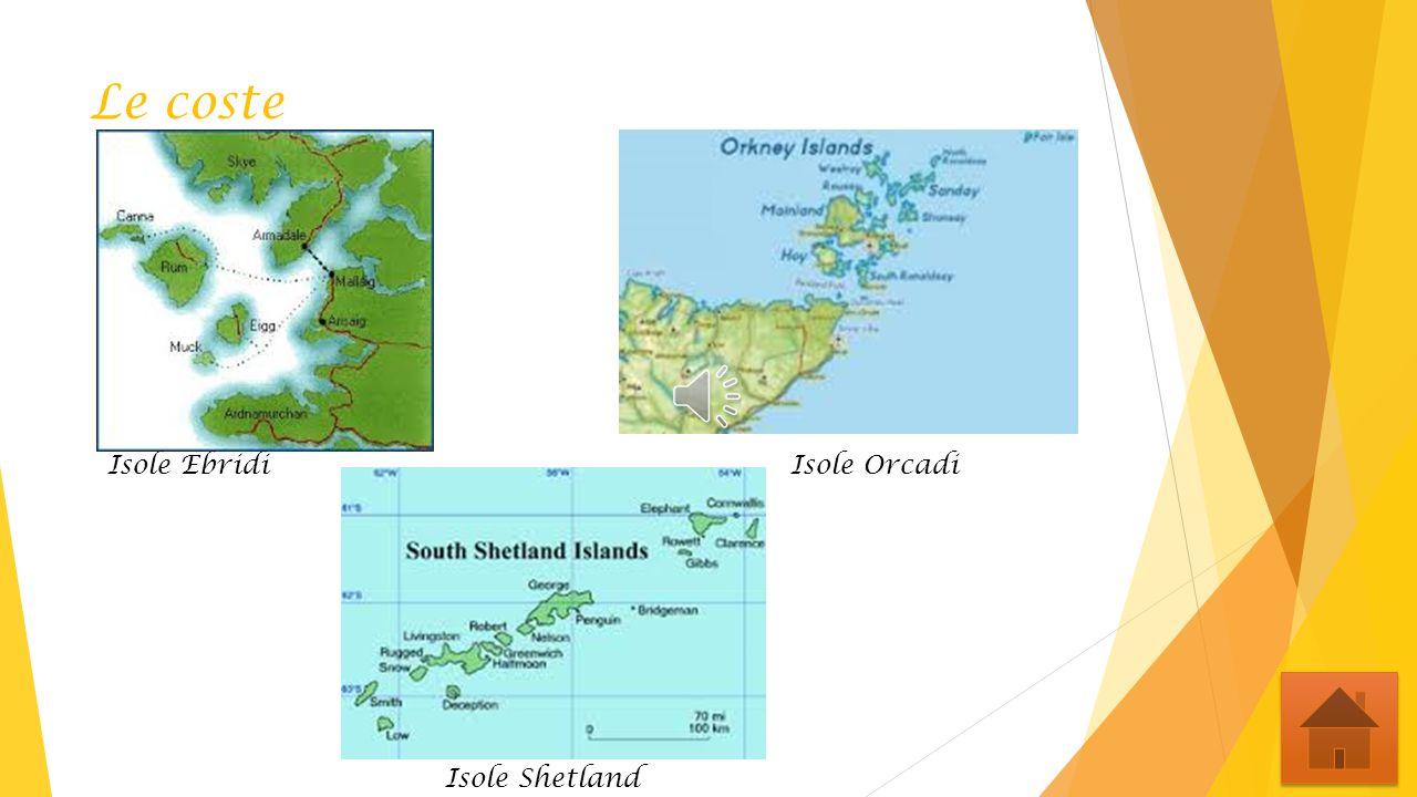 Le coste Isole Ebridi Isole Orcadi.