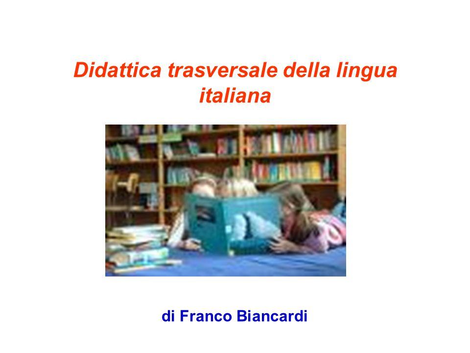 Didattica trasversale della lingua italiana