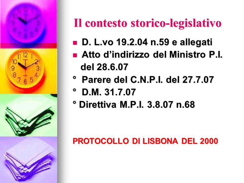 Il contesto storico-legislativo
