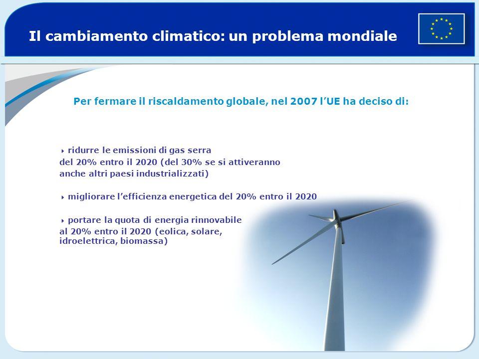 Per fermare il riscaldamento globale, nel 2007 l'UE ha deciso di: