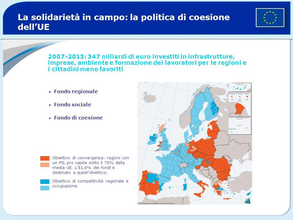 La solidarietà in campo: la politica di coesione dell'UE