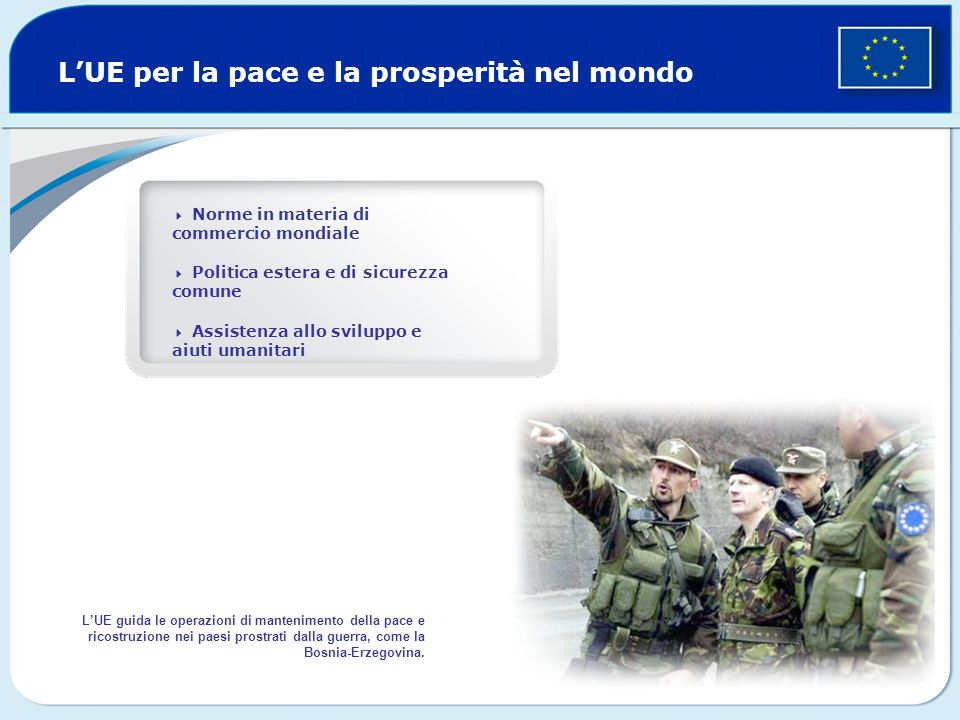 L'UE per la pace e la prosperità nel mondo