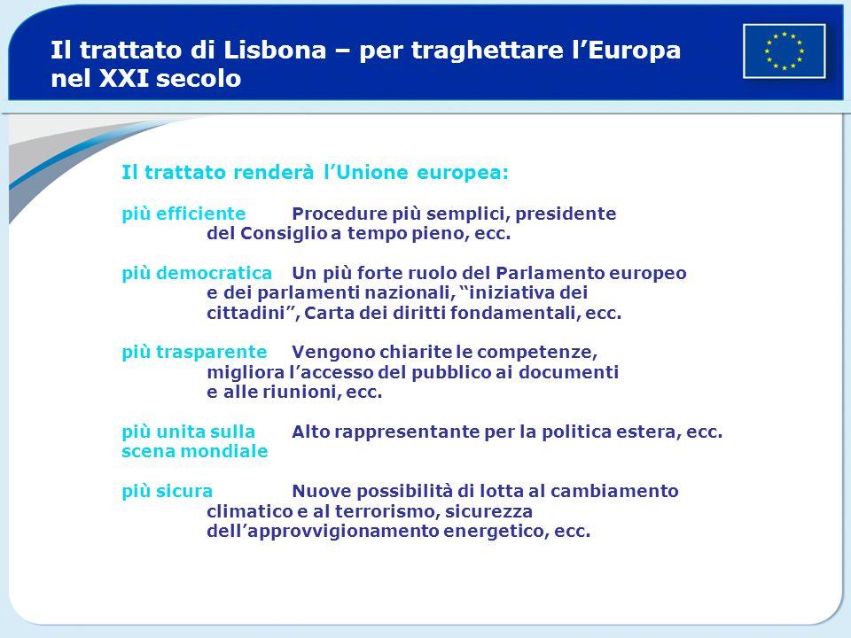 Il trattato di Lisbona – per traghettare l'Europa nel XXI secolo