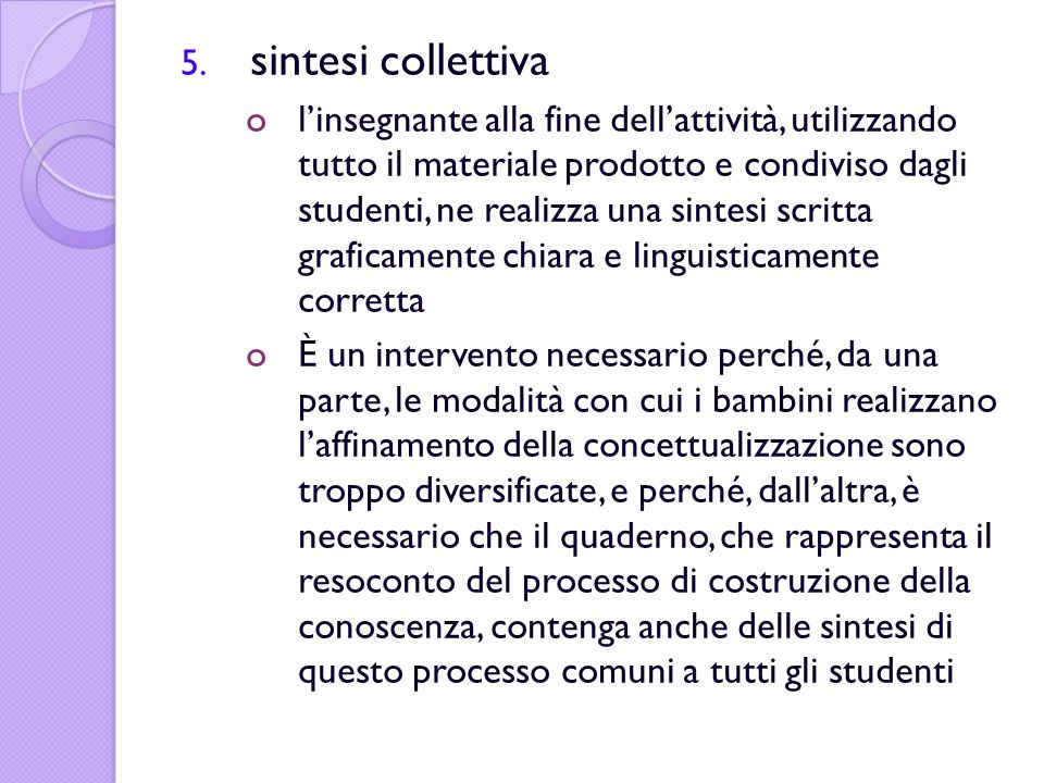 sintesi collettiva