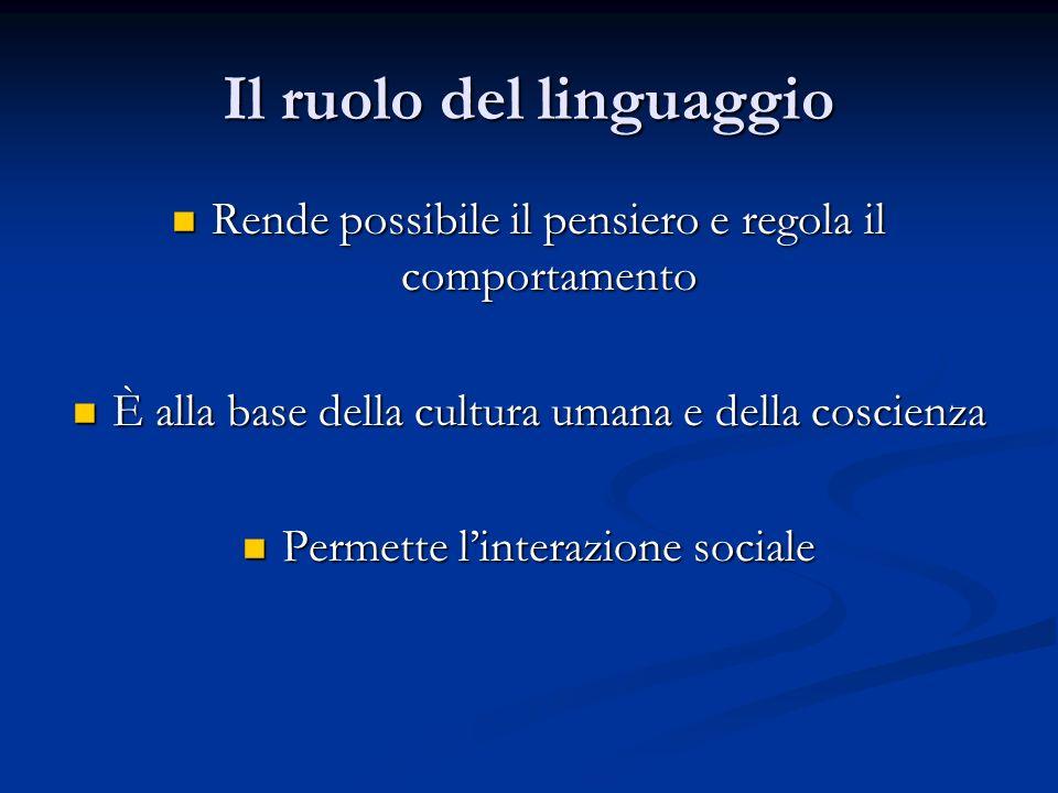 Il ruolo del linguaggio