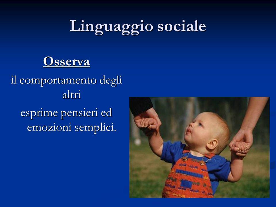 Linguaggio sociale Osserva il comportamento degli altri