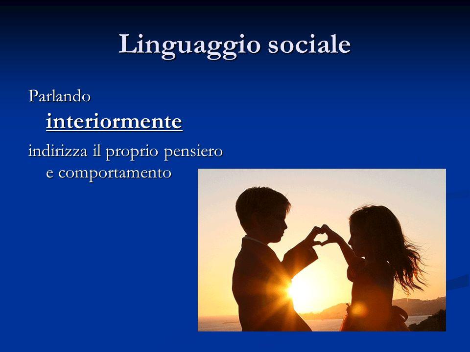 Linguaggio sociale Parlando interiormente