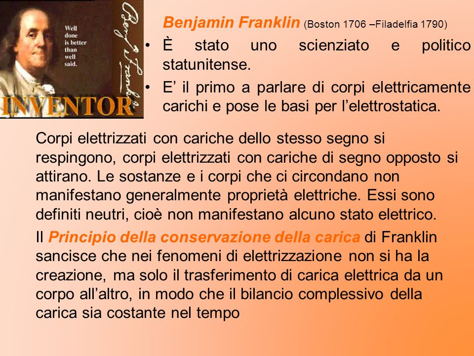 Benjamin Franklin (Boston 1706 –Filadelfia 1790)