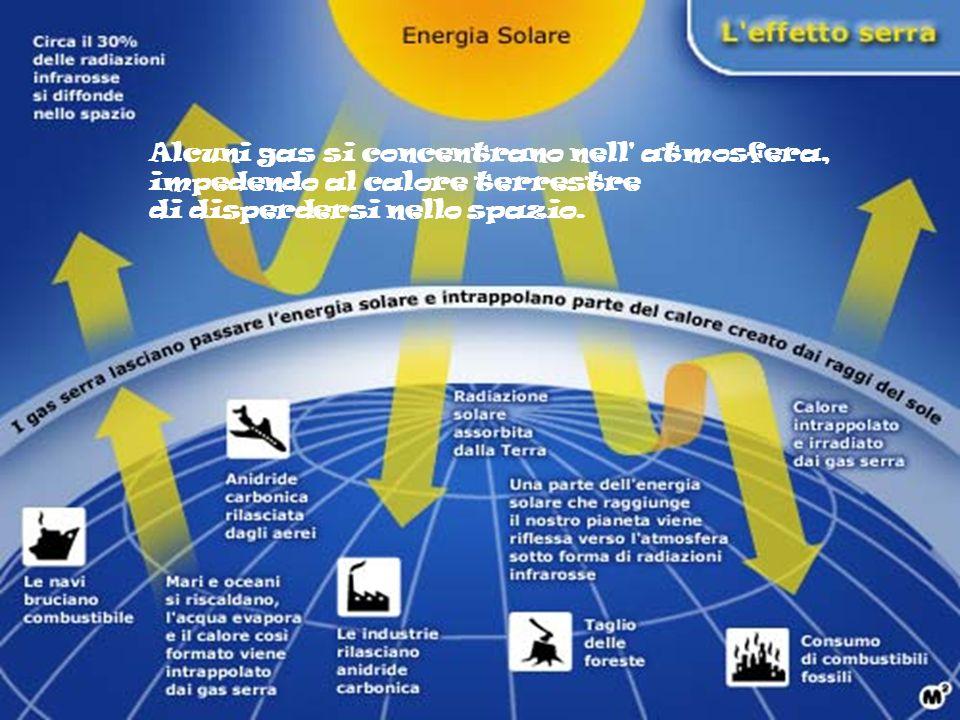 Alcuni gas si concentrano nell atmosfera, impedendo al calore terrestre