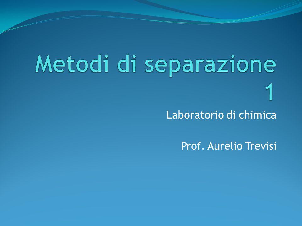 Laboratorio di chimica Prof. Aurelio Trevisi