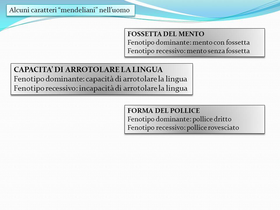 CAPACITA' DI ARROTOLARE LA LINGUA