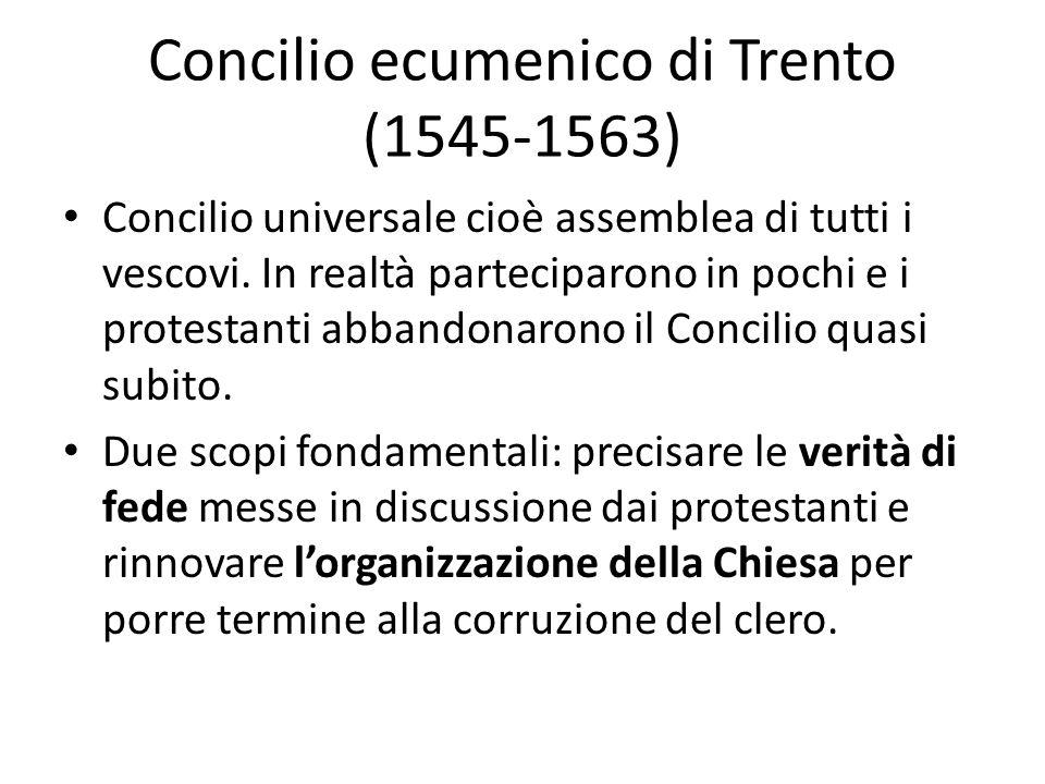 Concilio ecumenico di Trento (1545-1563)