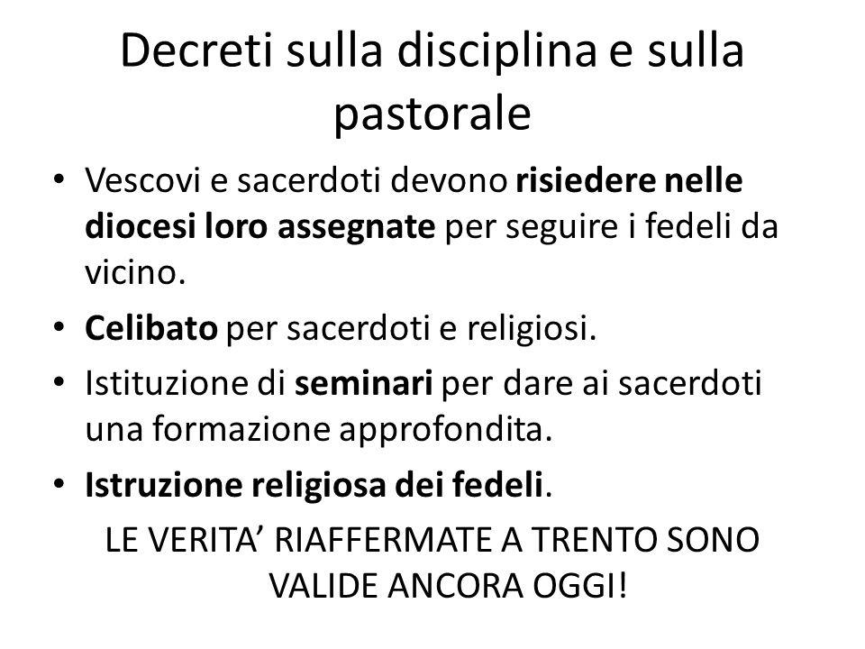 Decreti sulla disciplina e sulla pastorale