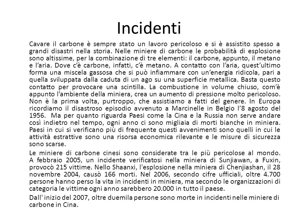 Incidenti