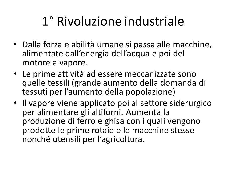 1° Rivoluzione industriale