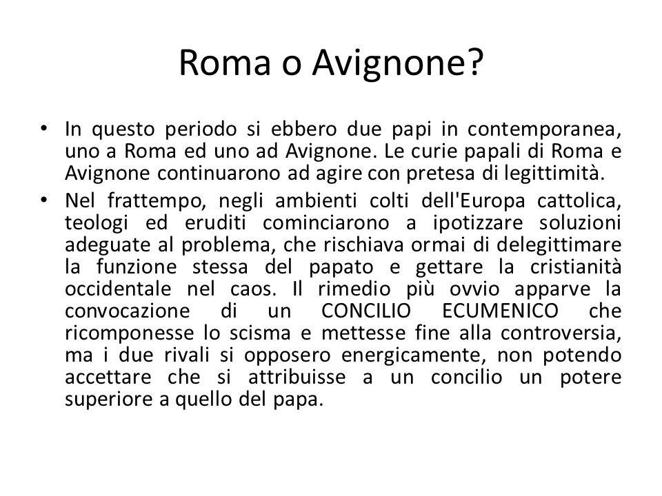 Roma o Avignone