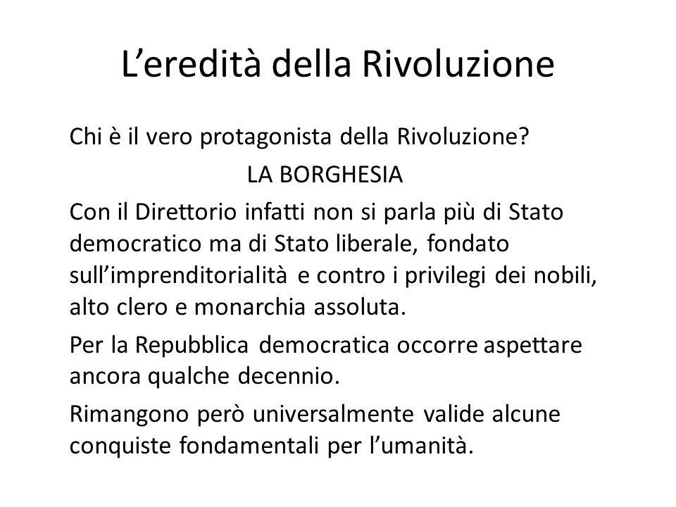 L'eredità della Rivoluzione