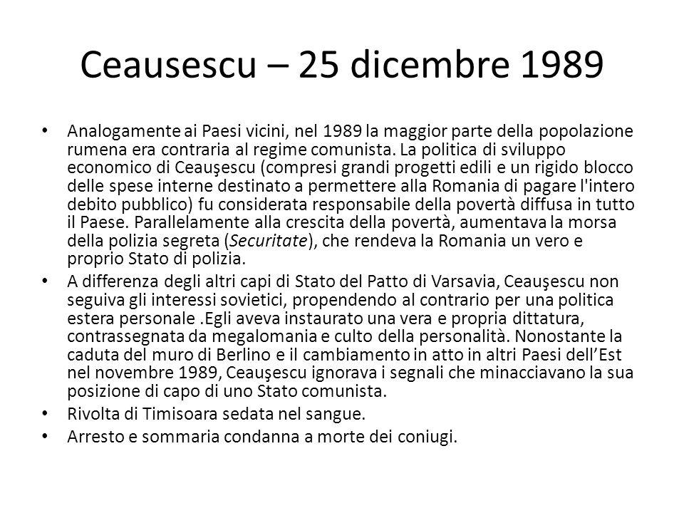 Ceausescu – 25 dicembre 1989