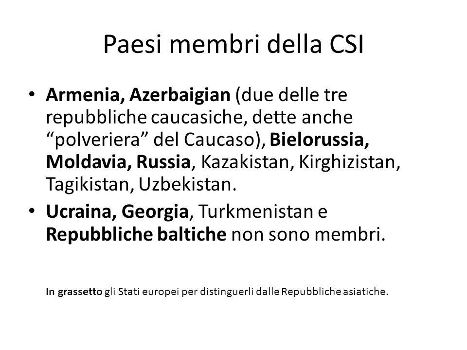Paesi membri della CSI