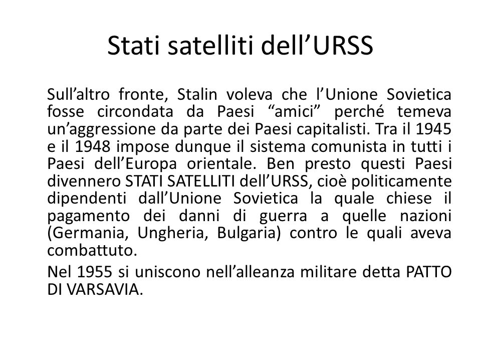 Stati satelliti dell'URSS