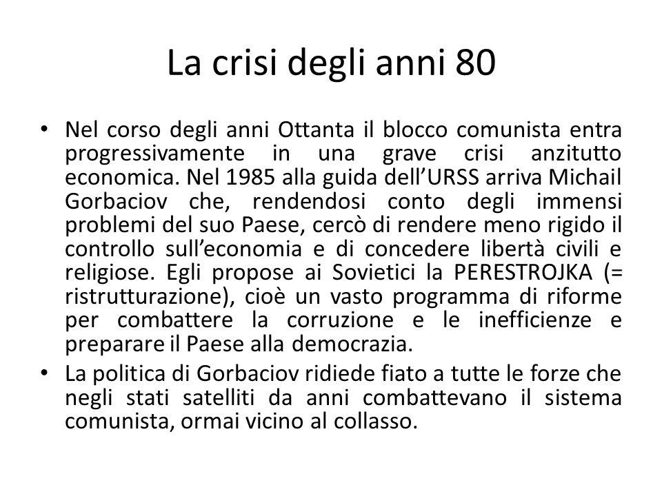 La crisi degli anni 80