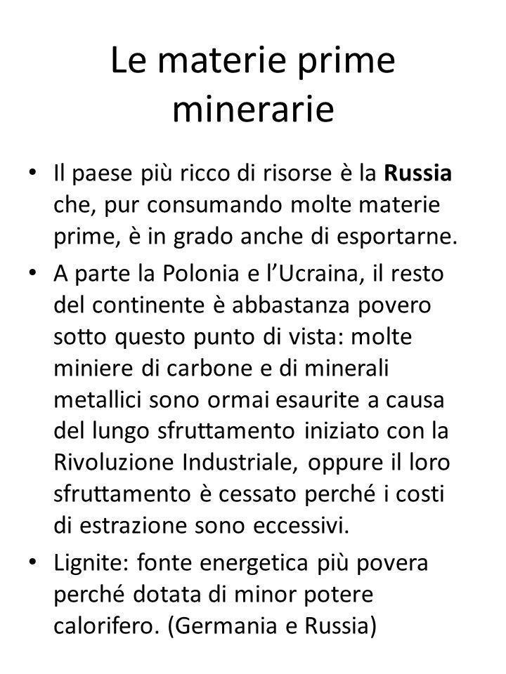 Le materie prime minerarie