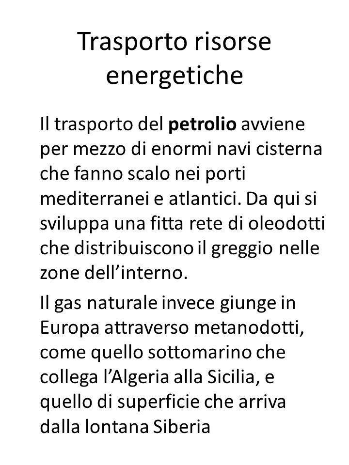Trasporto risorse energetiche