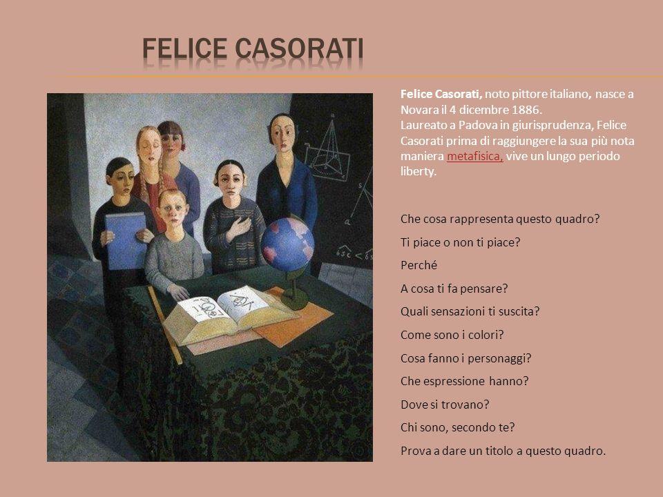 Felice Casorati Felice Casorati, noto pittore italiano, nasce a Novara il 4 dicembre 1886.