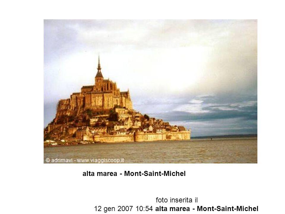 foto inserita il 12 gen 2007 10:54 alta marea - Mont-Saint-Michel
