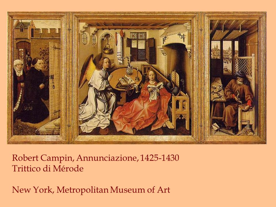 Robert Campin, Annunciazione, 1425-1430