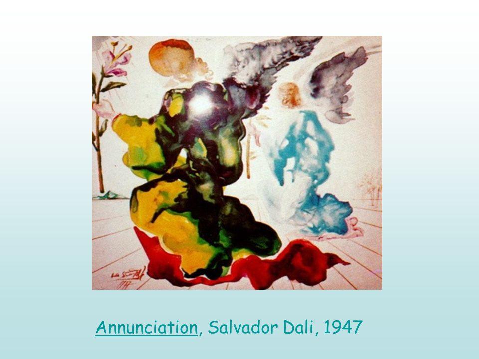 Annunciation, Salvador Dali, 1947