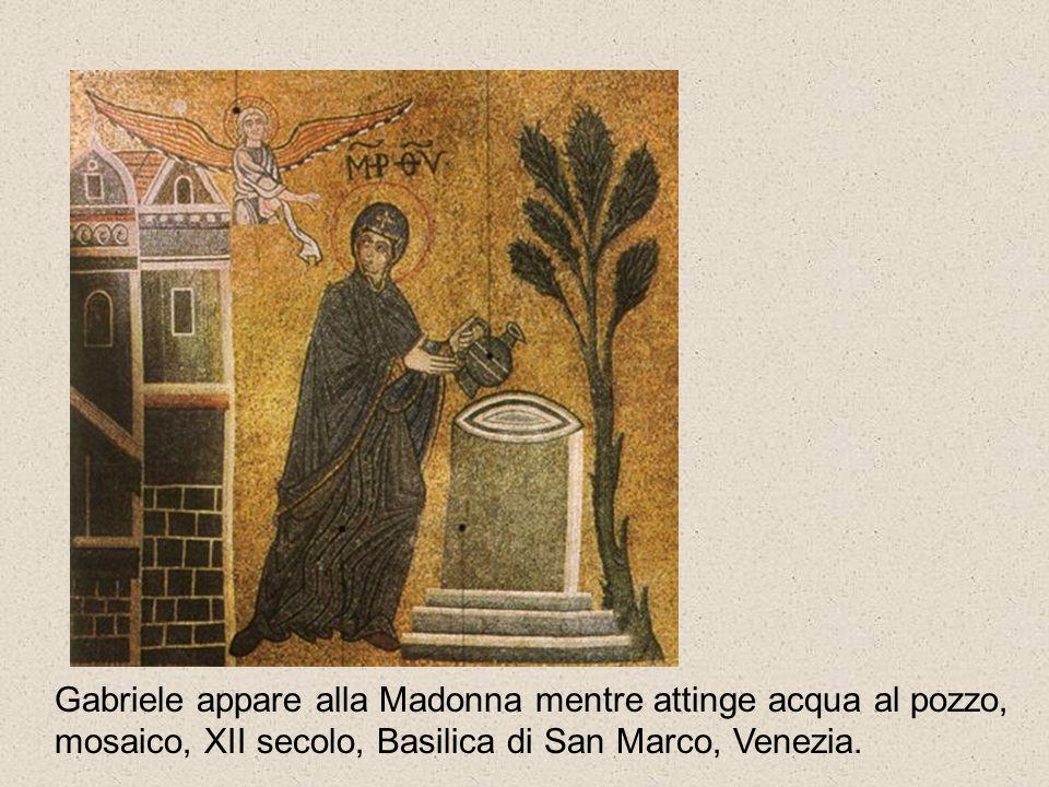Gabriele appare alla Madonna mentre attinge acqua al pozzo,