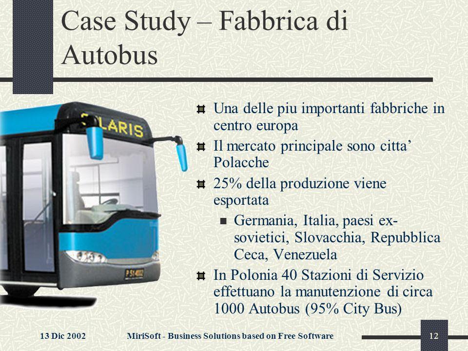 Case Study – Fabbrica di Autobus