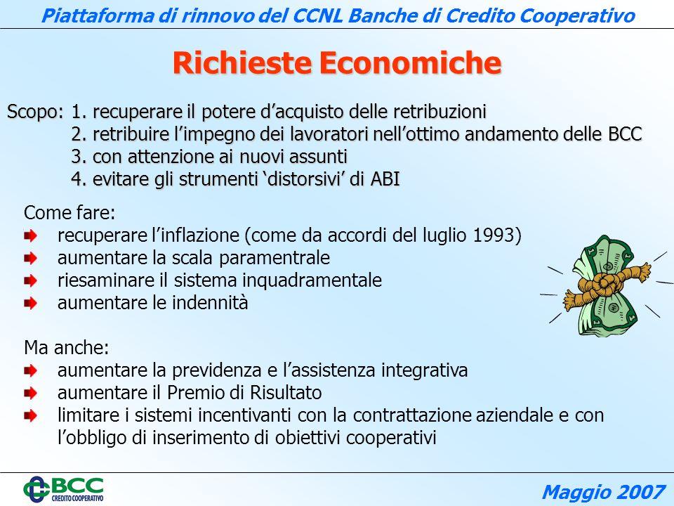Richieste Economiche Scopo: 1. recuperare il potere d'acquisto delle retribuzioni.
