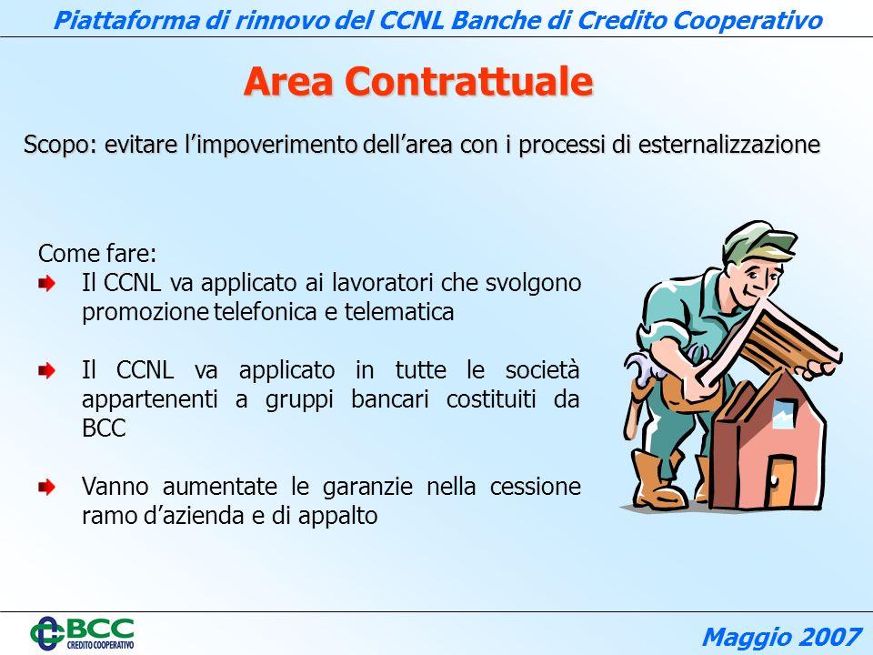 Area Contrattuale Scopo: evitare l'impoverimento dell'area con i processi di esternalizzazione. Come fare: