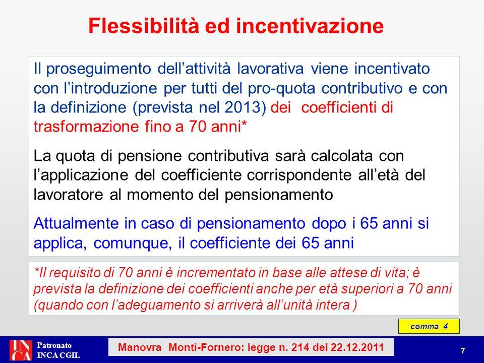 Flessibilità ed incentivazione