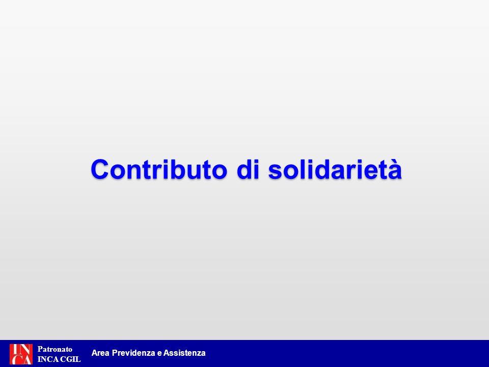 Contributo di solidarietà