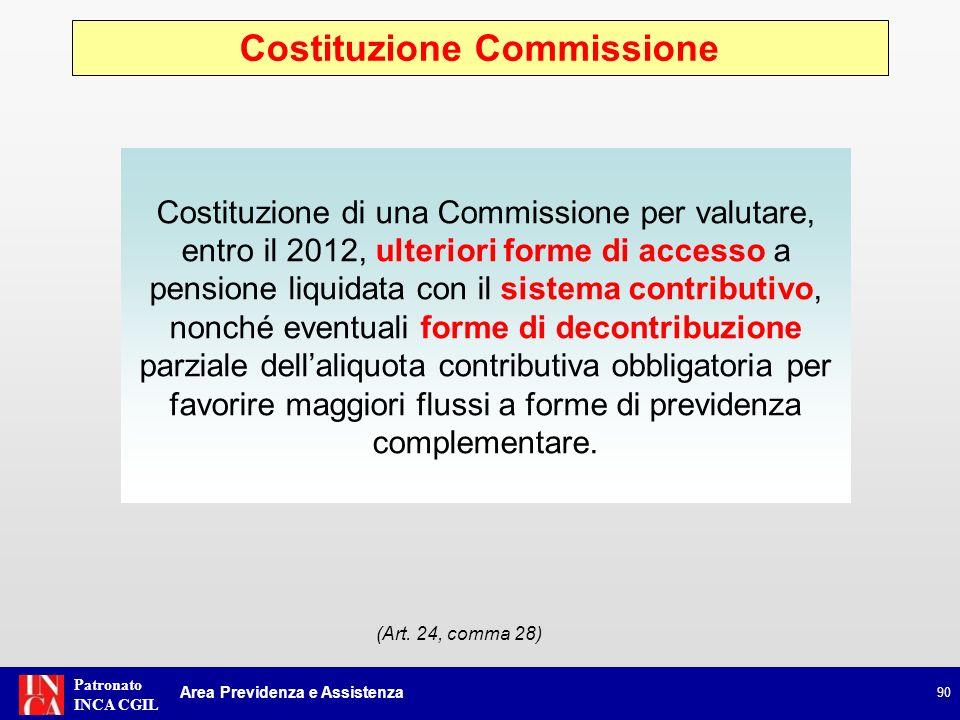 Costituzione Commissione