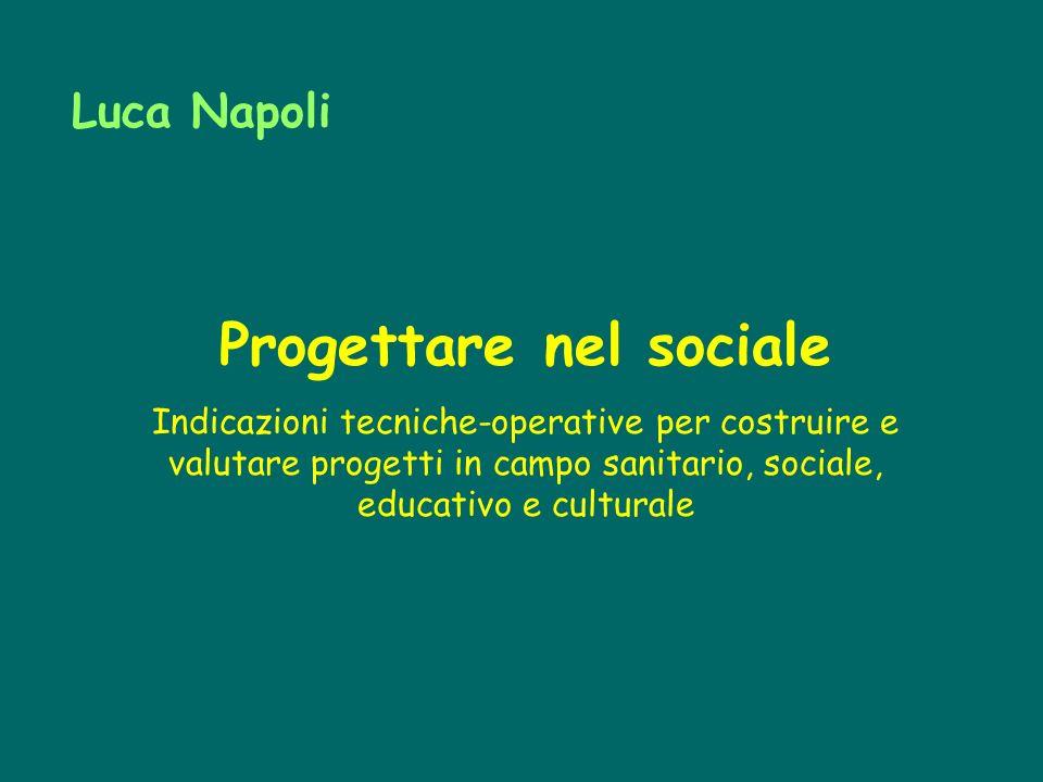 Progettare nel sociale