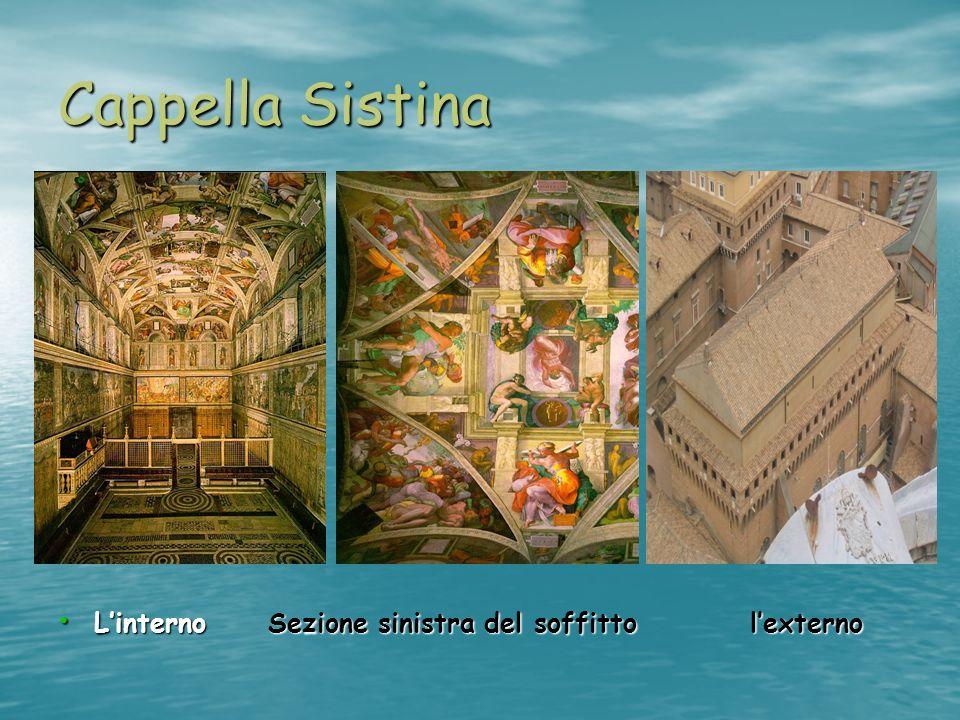 Cappella Sistina L'interno Sezione sinistra del soffitto l'externo